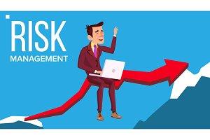 Risk Management Vector. Businessman