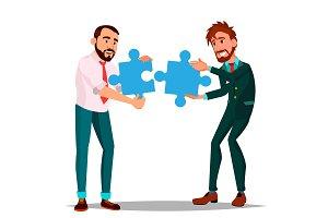 Partnership Vector. Two Man