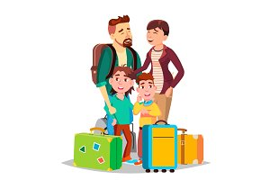 Parents And Children Traveling With