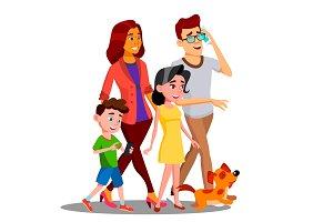 Family Walking, Spending Time
