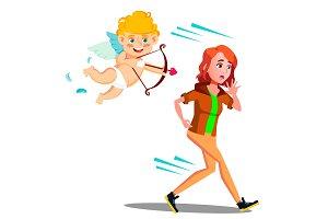 Frightened Teen Girl Running From