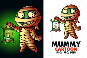 Mummy Cartoon Character