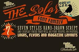Solar font family