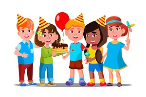Boys And Girls Celebrate Birthday Of