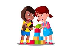 Multiracial Group Of Kids Playing
