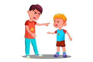 Little Children In Conflict In The