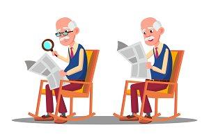 Visually Impaired Elderly Man