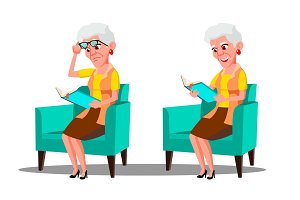Visually Impaired Elderly Woman