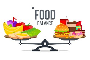 Balance Of Healthy And Unhealthy