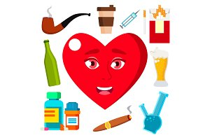 Health Concept, Heart Surrounded By