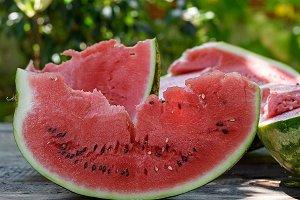 slice of ripe red watermelon