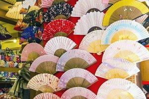 Decorative Japanese fans for sale