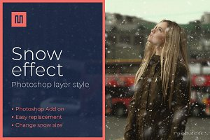 Snow effect - Photoshop effect