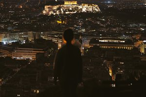 View of the night Acropolis,Athens&#x3B;G