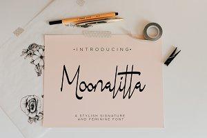 Moonalitta // Feminine Font Type
