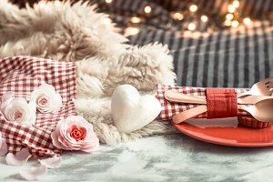 Valentine's Day festive dinner