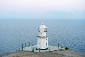 Lighthouse in dusk.Crimea, Ukraine