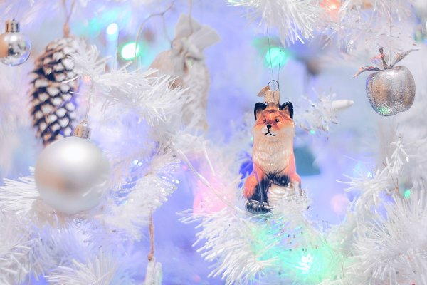 Holiday Stock Photos: Concept & Horses - Christmas fox decorations