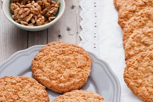 Homemade cookies with walnuts