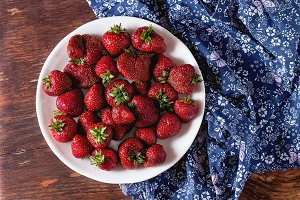 Fresh garden strawberries