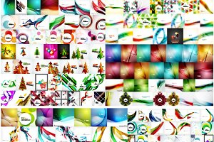 X-large abstract backgrounds set
