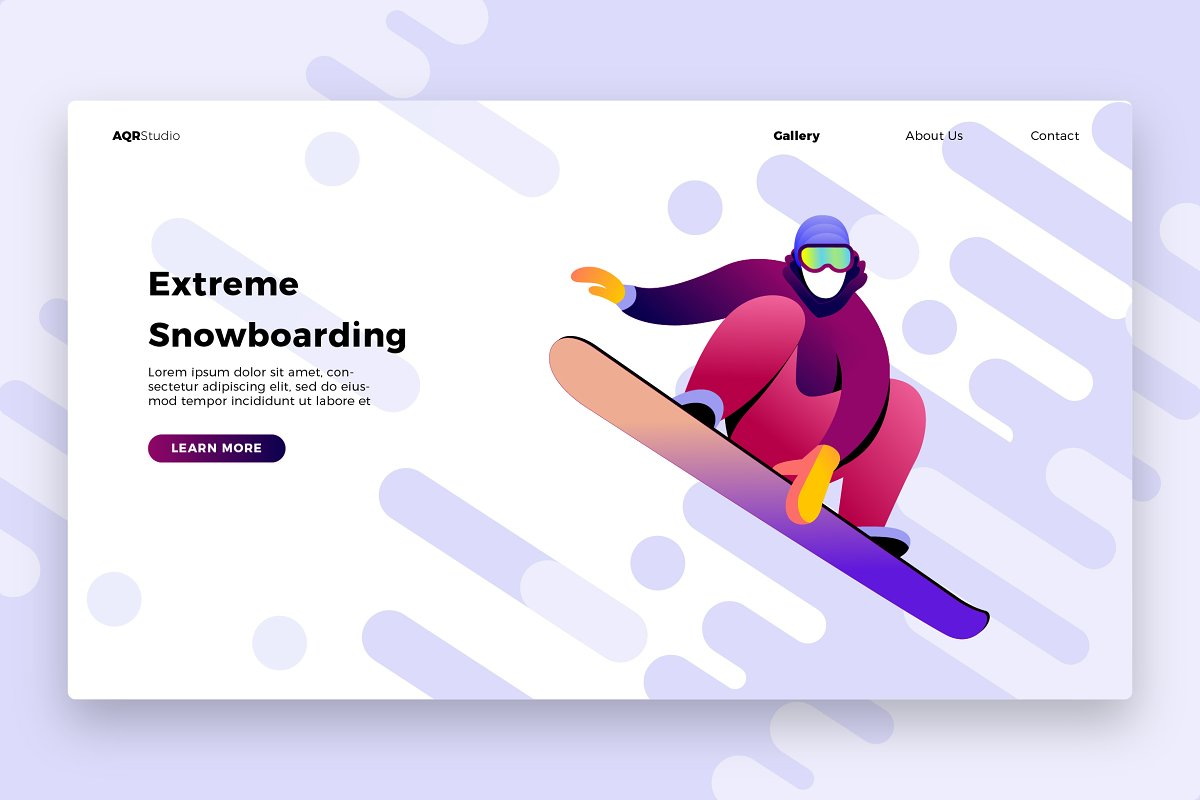 snowboard 1 - Banner & Landing Page