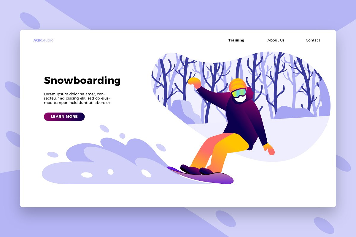 Snowboard 2 - Banner & Landing Page