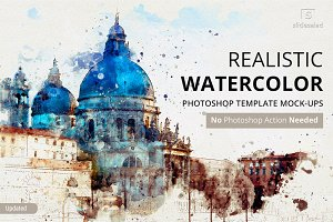 Watercolor Photoshop Mock-ups
