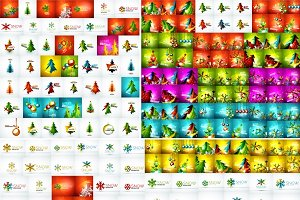 Huge set of Christmas backgrounds
