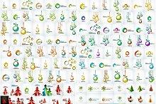 Mega set of Christmas backgrounds