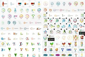 Universal line logos collection