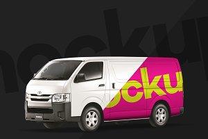 4K Work Van Toyota HiAce PSD Mockup