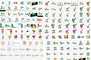 Great modern logos collection