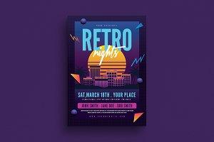 Retro Night 80s Flyer