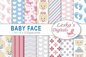 Baby Face Digital Paper Pack