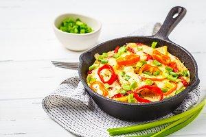 Traditional potato omelet fritatta