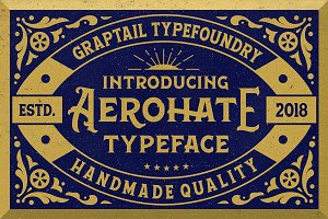 Aerohate Typeface + Extras