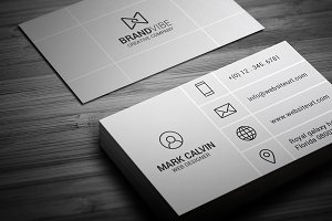 Creative Flat Metro Business Card
