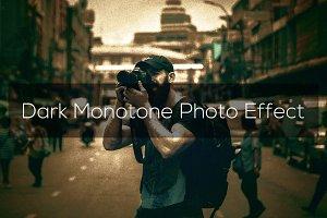 Dark Monotone Photo Effect