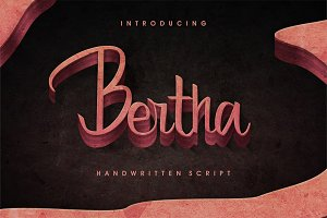 Bertha - Script With Ligatures