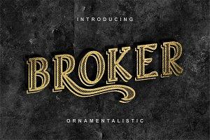 Broker - Vintage Display Font