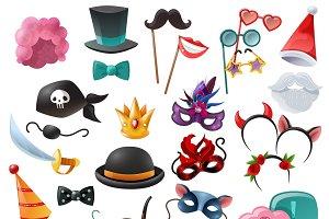Props for masquerade cartoon icons