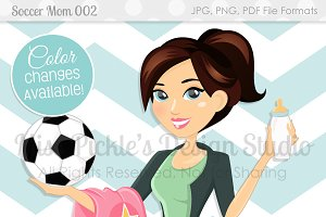 Soccer Mom 002- Character Graphic