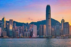 Junk boat in Hong Kong Victoria