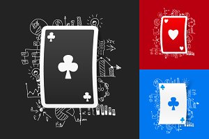 9 PLAYING CARD STICKERS