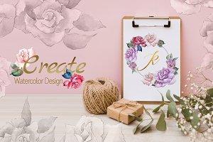 ROSES Watercolor png