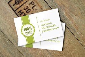 Bio business card mockup