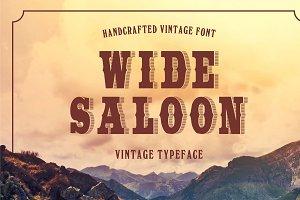 Wide Saloon - Display Font