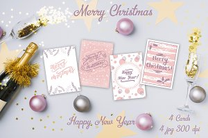 Christmas Lettering + Cards