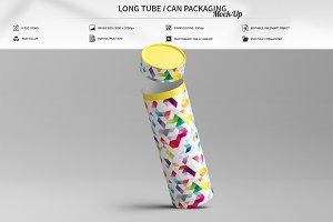 Long Tube / Can Packaging Mock-Up